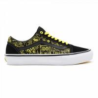 Кеды Vans Skate Old Skool черные с желтым