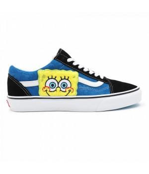 Кеды Vans Old Skool Spongebob с принтом синие