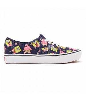 Кеды Vans Comfycush Authentic Spongebob с принтом фиолетовые