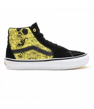 Кеды Vans Sk8-Hi Spongebob черные с желтым