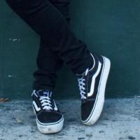 Кеды Vans Old Skool черно-белые