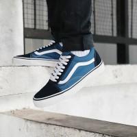 Кеды Vans Old Skool сине-голубые с белым