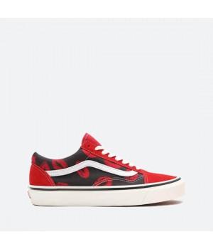Кеды Vans Anaheim UA Old Skool 36 DX красные с черным