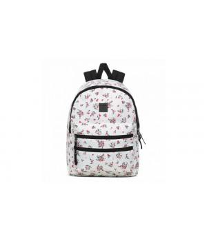 Рюкзак Vans  цветочный белый
