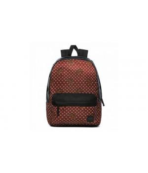 Рюкзак Vans цветочный бордовый
