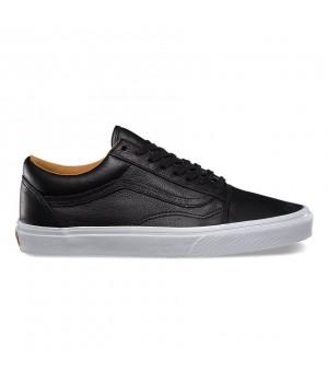 Кожаные кеды Vans Old Skool (Premium Leather) черные
