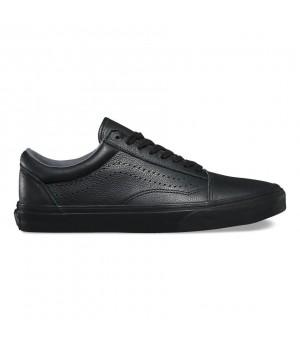 Кожаные кеды Vans Old Skool Reissue DX черные