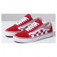 Кеды мужские Vans Old Skool Mix Checkerboard низкие красные