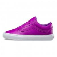 Кожаные кеды Vans Old Skool фиолетовые