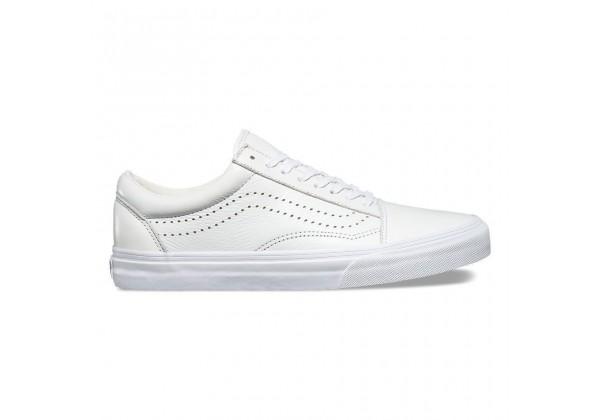 Кожаные кеды Vans Old Skool Reissue (Leather) белые