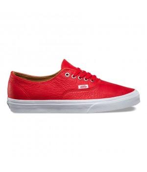Vans кеды кожаные Authentic Decon (Premium Leather) красные