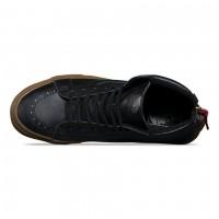 Кожаные кеды Vans SK8-Hi Reissue Zip (Hiking) черные