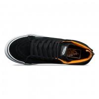 Кожаные кеды Vans SK8-HI SLIM ZIP BOOM BOOM черные