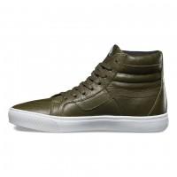 Кожаные кеды Vans Sk8-Hi Cup (Leather) зеленые