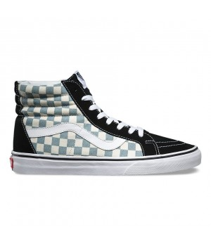 Кеды Vans Sk8-Hi Reissue Checkerboard белые