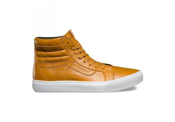 Кожаные кеды Vans Sk8-Hi Cup (Leather) коричневые