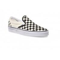 Слипоны Vans Classic Slip-On Checkerboard черно-белые