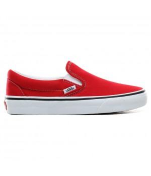 Слипоны Vans Classic Slip-On Racing Red True White Красные