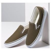Слипоны Vans Classic Slip-On Beech True White зеленые