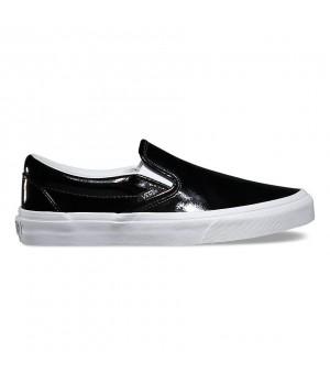 Слипоны Vans Classic Slip-On Tumble Patent черные