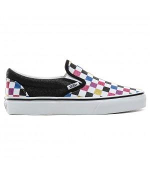 Слипоны Vans Classic Slip-On Glitter Check разноцветные