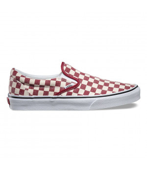 Слипоны Vans Classic Slip-On Checkerboard красные