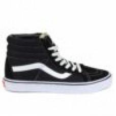 Зимние кеды  Vans sk8-hi black white